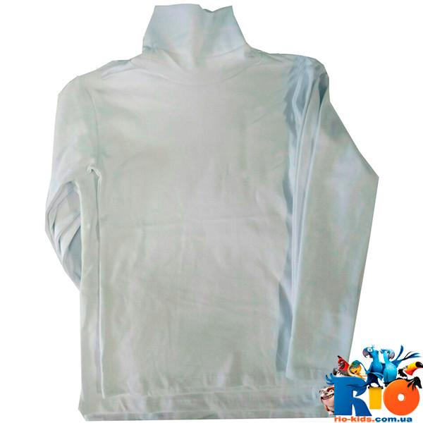 Детская водолазка-гольф белый ,трикотаж, для детей 9-12 лет (4ед. в упаковке)
