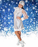 Карнавальный костюм Снегурочка короткая р-р 42-44, 46-48