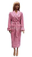 Женский махровый халат Nusa сиренево-розового цвета NS-3995, фото 1