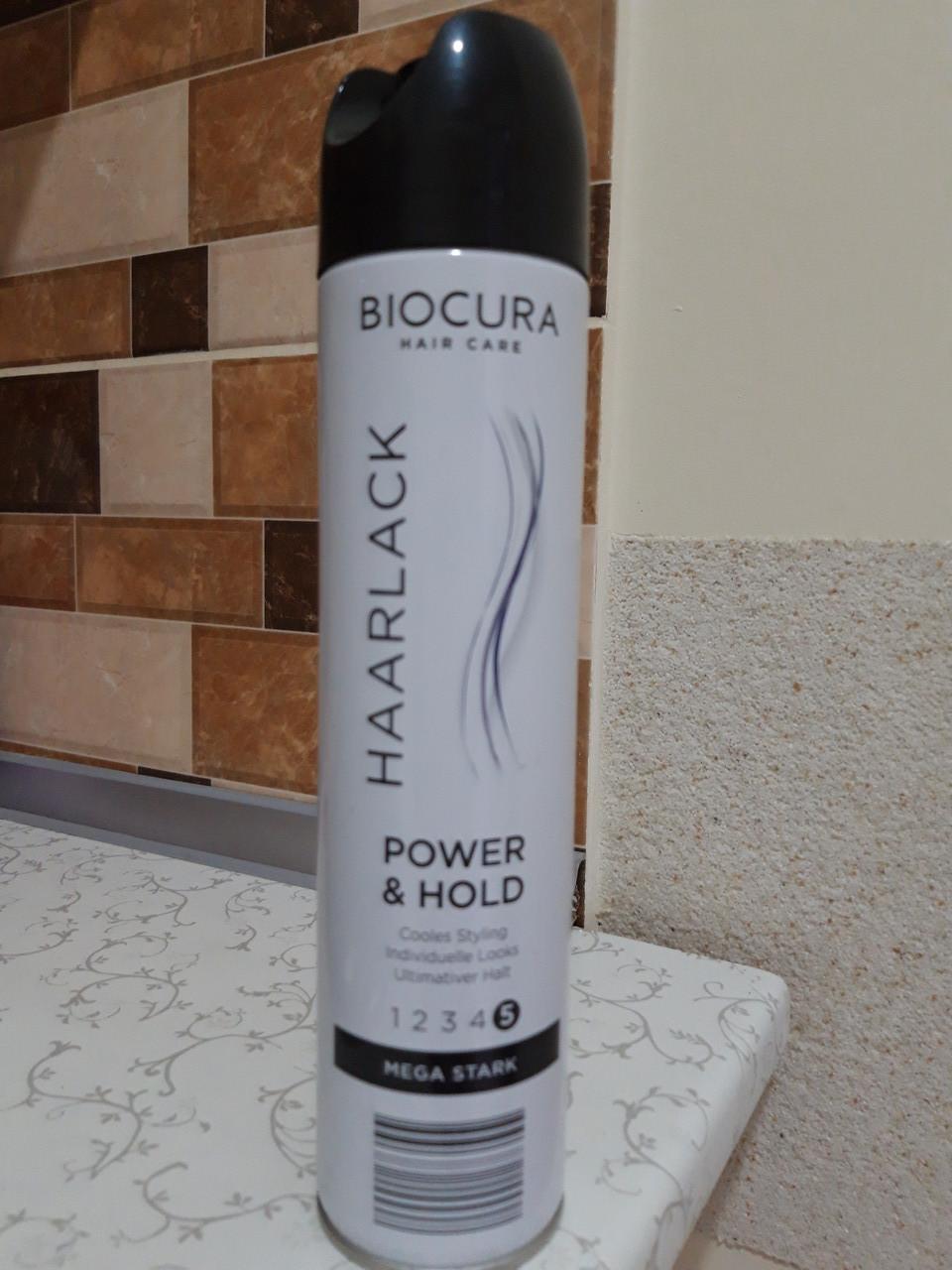 """Лак для волосся Biocura """"Power & Hold"""" 5, 300 мл"""