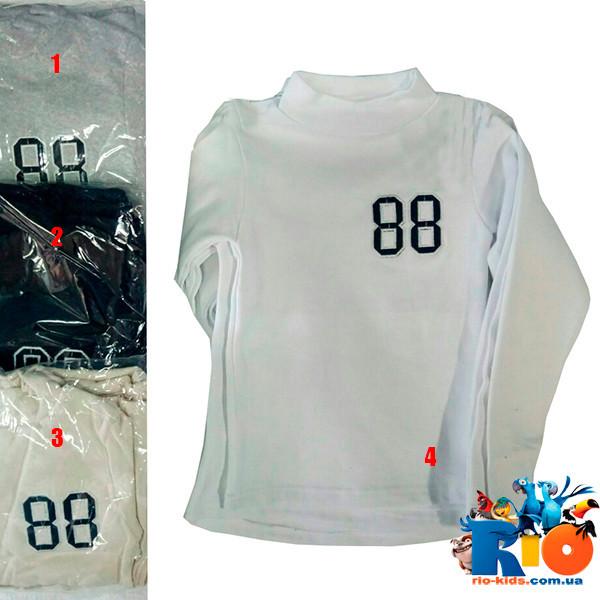 """Детская водолазка-гольф """"88"""" ,трикотаж, для мальчиков 9-12 лет (4 ед. в упаковке)"""