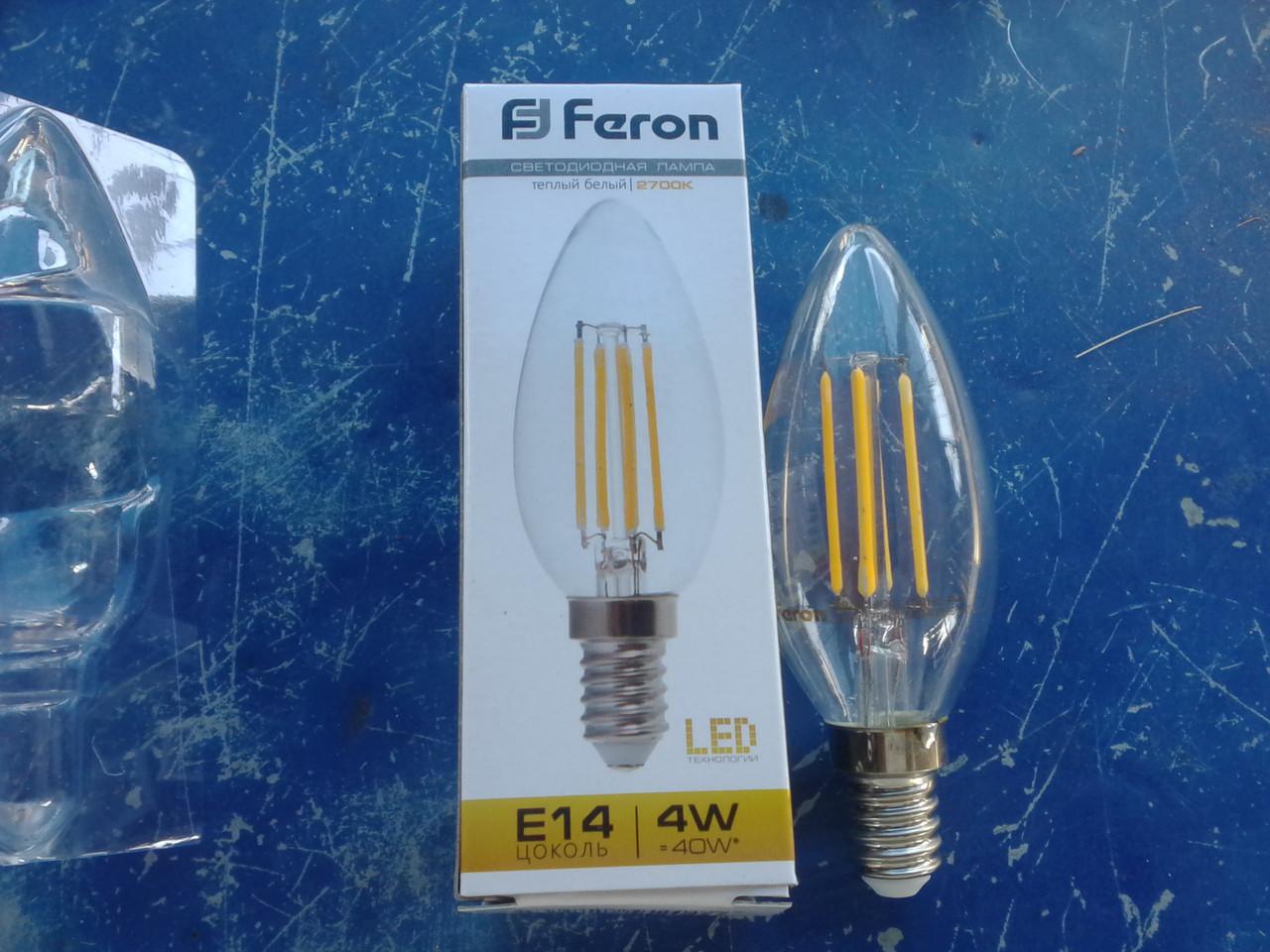 Filament Лампа декоративная Feron LB-58 4W 4 LED E14 2700K