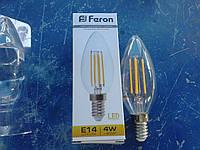 Filament Лампа декоративная Feron LB-58 4W 4 LED E14 2700K, фото 1