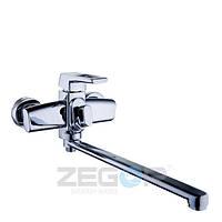 Смеситель для ванны с душем Zegor Z65-NEF7(NEF7-A232) однорычажный с длинным гусаком цвет хром