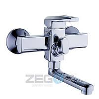 Смеситель для ванны Zegor Z65-NOF3 (NOF3) однорычажный с коротким изливом цвет хром