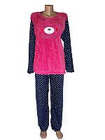 Пижама женская теплая Мишка  р XL