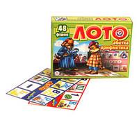 """Детская развивающая игра-лото укр. """"Абетка"""", 0366"""