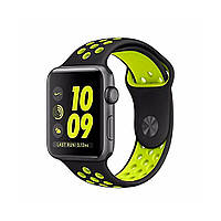 Ремешок для Apple Watch 38mm/40mm Sport Band Nike+ (Black Yellow), фото 1