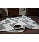 Ковер SKETCH 160x220 см - FA66 серый белый - с зигзаговым узором, фото 5