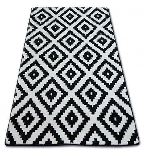 Ковер SKETCH 160x220 см - F998 белый черный -