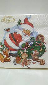 Салфетка (ЗЗхЗЗ, 20шт)  La FleurНГ Время для подарков(314) (1 пач)