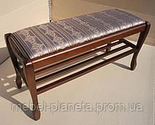 """Банкетка для обуви в прихожую """"Гармония 70"""" с полкой Fusion Furniture"""
