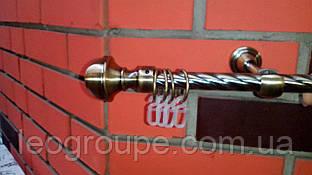 Карниз кованый  одинарный Бостон антик-3м