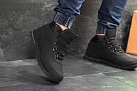 Зимние кроссовки  Timberland черные (Реплика ААА+)