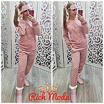 Домашний костюм очень тёплый, пижама. С повязкой на глаза+тапочки-носочки. Турция, от 42 до 50размера, фото 3