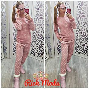 Домашний костюм очень тёплый, пижама. С повязкой на глаза. Турция, от 42 до 50размера, фото 2