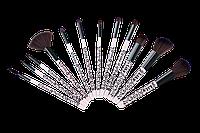 Набор кистей для макияжа (12 шт) Lily