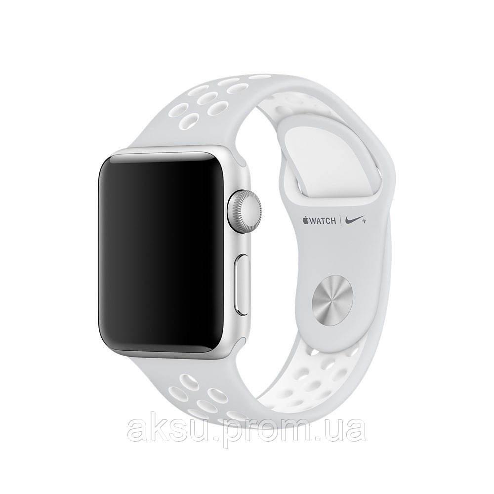 Ремешок для Apple Watch 38mm/40mm Sport Band Nike+ (Grey White)