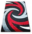 Ковер SHAGGY VERONA 133x190 см B058 черный/красный, фото 2
