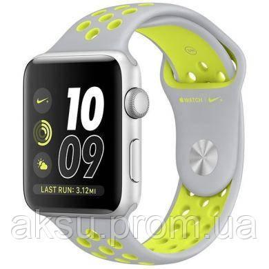 Ремешок для Apple Watch 38mm/40mm Sport Band Nike+ (Grey Yellev)