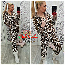 Пижама женская, кигуруми леопард! Хит сезона!!! Размер 42-46, фото 2