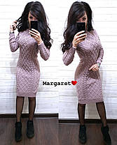 Вязанное платье, размер единый 42-46, фото 2