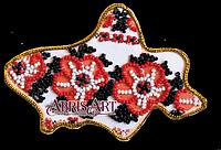 Набор для вышивки бисером Абрис Арт AMK-005 Магнит Карта Украины Донецкая область