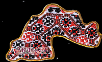 Набор для вышивки бисером Абрис Арт AMK-004 Магнит Карта Украины Днепропетровская область