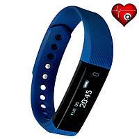 Фитнес трекер VeryFit ID116HR с датчиком сердцебиения для iPhone и Android шагомер калории пульс синий
