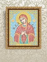 Схема для вышивки бисером Богородица Семистрельная