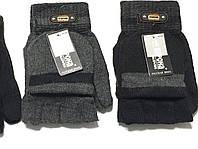 Чоловічі рукавички без пальців з рукавичкою оптом