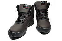 Мужские зимние ботинки на меху в стиле Nike Lunarridge, коричневый . Код товара: ДП - 1-021