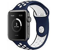 Ремешок для Apple Watch 38mm/40mm Sport Band Nike+ (Midnight blue White), фото 1