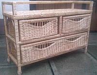 Комод из лозы с ящиками , фото 1