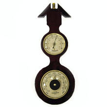 Деревянный барометр механический на стену