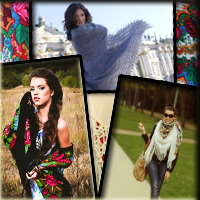 Женские платки, палантины, косынки, шали