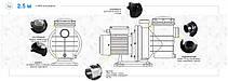 Насос AquaViva LX SWIM050M 12 м3/ч (1HP, 220В), для бассейнов объёмом до 48 м3, фото 3