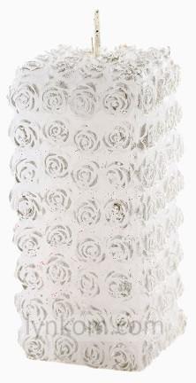 Свеча LED Мерседес с подсветкой белая Bartek 14 см (sw70/140-040)