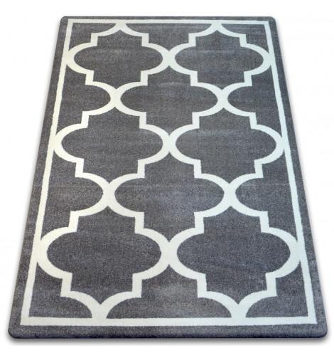 Ковер SKETCH 180x270 см - F730 серый белый Марокканский узор