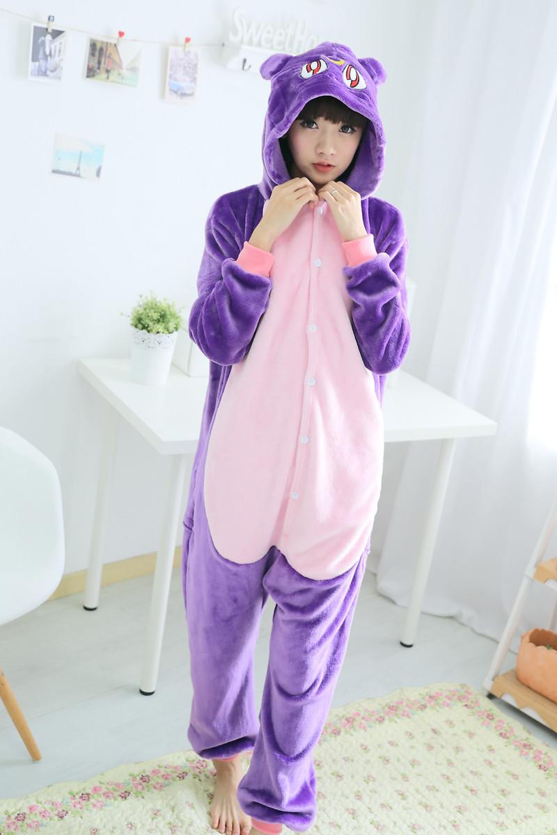 (S, M, L, XL) Кигуруми кошка луна пижама v1418