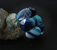 Браслет из голубого агата на резинке, фото 1