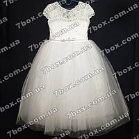 Детское нарядное платье бальное Бэль (белое) Возраст 6-7 лет., фото 1