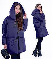 Куртка Isabelle жіноча зимова з капюшоном на зав'язках, батал, 52-54, 54-56