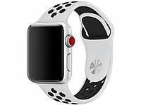 Ремешок для Apple Watch 38mm/40mm Sport Band Nike+ (White Black), фото 1