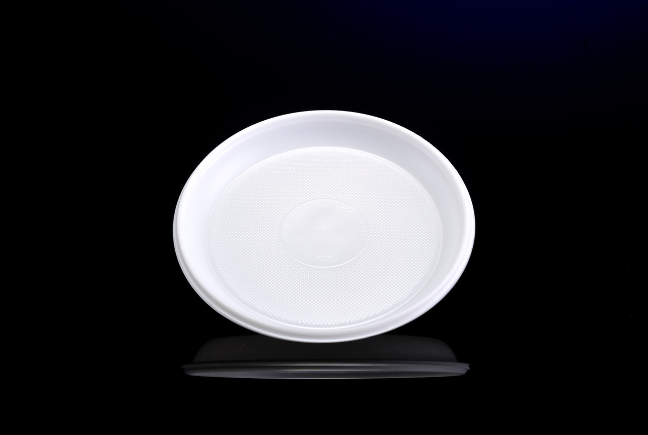 Одноразова пластикова тарілка 165 мм