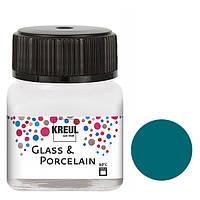 Краска по стеклу и керамике C.Kreul Hobby Line на водной основе под обжиг Турецкий голубой 20 мл (KR-16216)