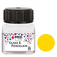 Краска по стеклу и керамике C.Kreul Hobby Line на водной основе под обжиг Желтый основной 20 мл (KR-16202)