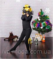 Детский карнавальный костюм персонажа мультфильма Супер Кот,Черный кот, фото 1