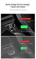 Автомобильное зарядное устройство BASEUS Dual USB Quick Charger 3.0, фото 5