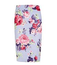 Цветочная юбка-карандаш New Look, фото 3